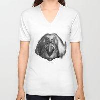 einstein V-neck T-shirts featuring einstein by Andrei Sky