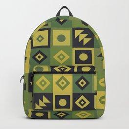 Retro Geometric Tile Pattern Backpack