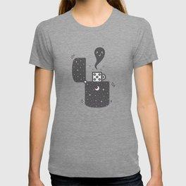 Halloween in a lighter T-shirt