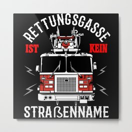 Firefighters Car - Rescue Alley Gift Idea Design Metal Print