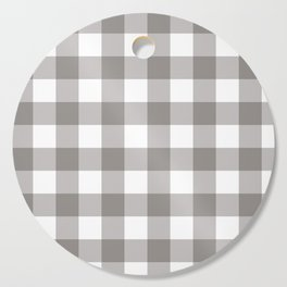 Grey & White Plaid Cutting Board