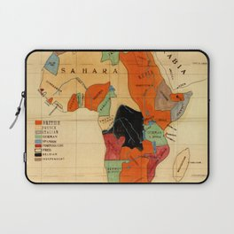 Map Of Africa 1908 Laptop Sleeve
