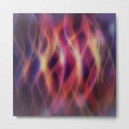 Glowing waves Metal Print