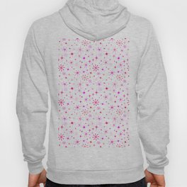 Atomic Starry Night in White + Mod Pink Hoody