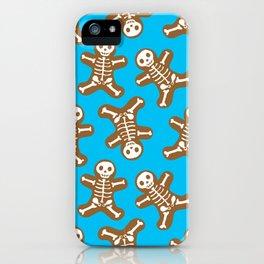 Skeleton Gingerbread Man Pattern iPhone Case