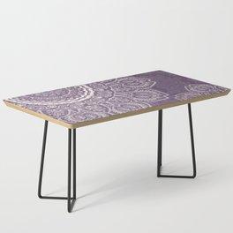 Mandala Tulips in Lavender ad Cream Coffee Table