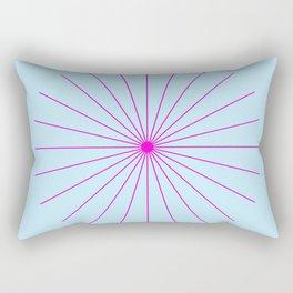 SpikeyBurst - Pastel Blue with Bright Pink Rectangular Pillow