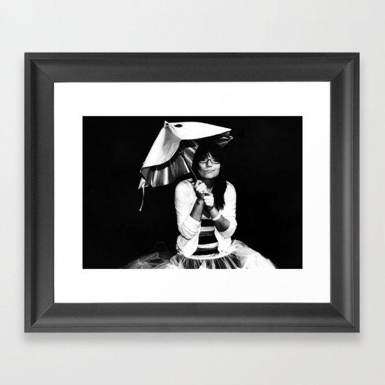 Burnt Umbrella  Framed Art Print