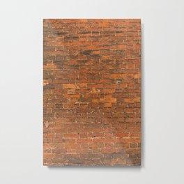 Bricked Metal Print