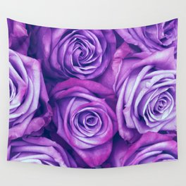 Purple Gothic Roses, Luxurious and Chic Wall Tapestry