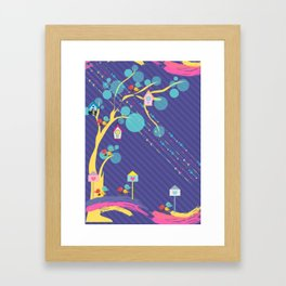 #HappyBirds Framed Art Print