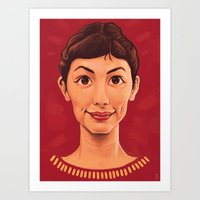 amelie Art Prints featuring Amelie by Dale C Bowers