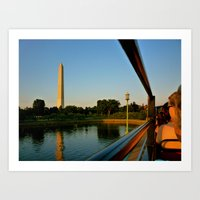 washington dc Art Prints featuring Washington, DC by KVK.