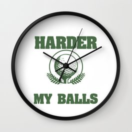 Sport Golf Club Golfer Golfing Course Tee The Colder I Get The Harder It Is To Find My Balls Golf Wall Clock
