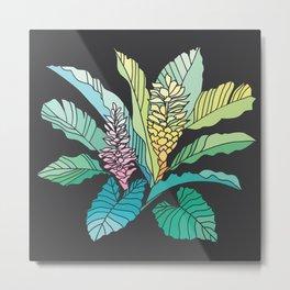 tropical ginger dark background Metal Print