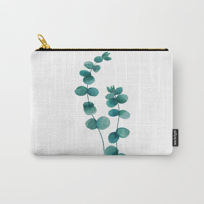green eucalyptus watercolor Carry-All Pouch