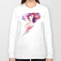 woman Long Sleeve T-shirts featuring woman by tatiana-teni