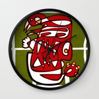 liverpool Wall Clocks featuring Suarez - Liverpool  by Ray Kane