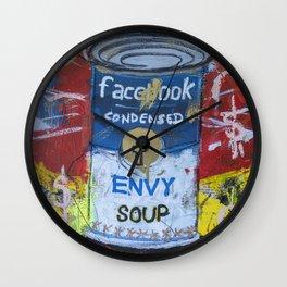 Envy Soup Preserves Wall Clock