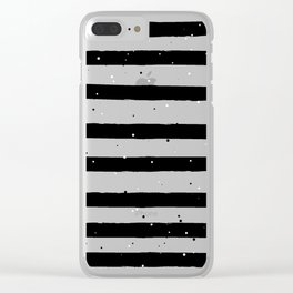 Black and White Stripe Clear iPhone Case