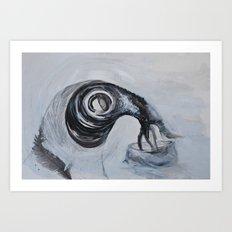 galactic bird Art Print