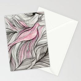 Pink Dove Stationery Cards