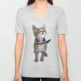Tabby Kitten Unisex V-Neck
