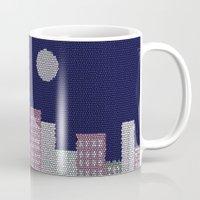 buildings Mugs featuring Buildings by Marie Libot