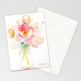 Blooming Peonies Stationery Cards