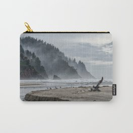Hills And Mist At Proposal Rock Carry-All Pouch