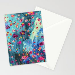 Moody - Floral Abstract Painting Stationery Cards