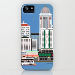 Louisville, Kentucky - Skyline Illustration by Loose Petals iPhone Case