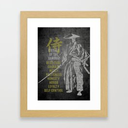 Virtues of Samurai Framed Art Print