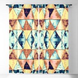 Boho Triangle Pattern II Blackout Curtain