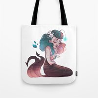 scorpio Tote Bags featuring Scorpio by Laia™