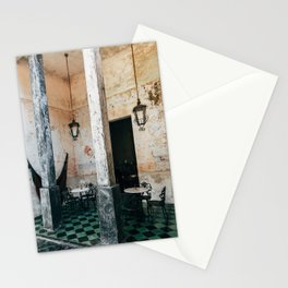 Coffee and frescoes in ex-hacienda in Mexico Stationery Cards