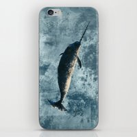 biology iPhone & iPod Skins featuring Jackson the Narwhal by Amber Marine