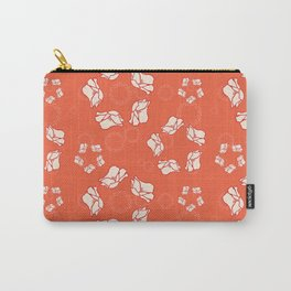 Poppy Pattern Collection - Red Background & Cream Flowers Carry-All Pouch