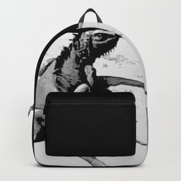 Lizard on Concrete Backpack