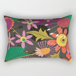 Jungle Flowers Rectangular Pillow