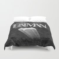 knight Duvet Covers featuring gothams knight by Darthdaloon