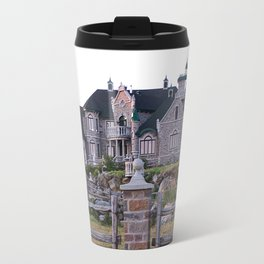 Stone Mansion on the River Travel Mug