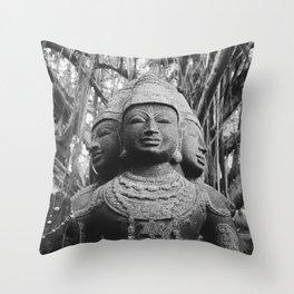 Shiva Statue - Kauai, Hawaii Throw Pillow