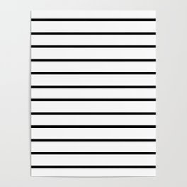 Black and White Breton Stripes Poster