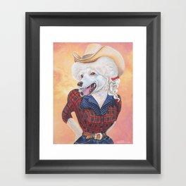 Doggy Parton Framed Art Print