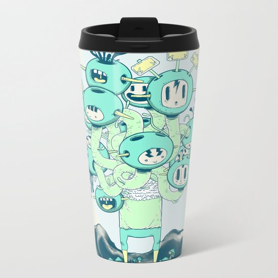 Many Heads are Better than None Metal Travel Mug