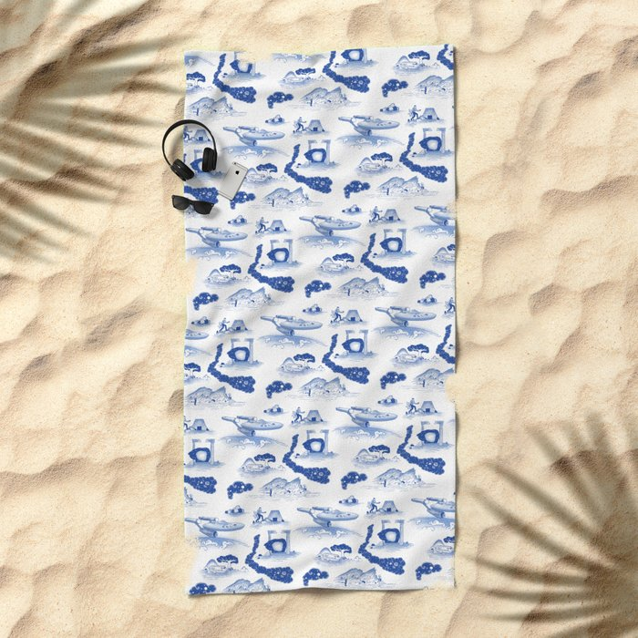 Pop Porcelain- Final Frontier Beach Towel