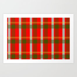 They've Gone Plaid Art Print