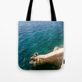Stairs to the Sea Tote Bag