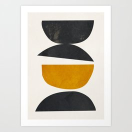 abstract minimal 23 Art Print